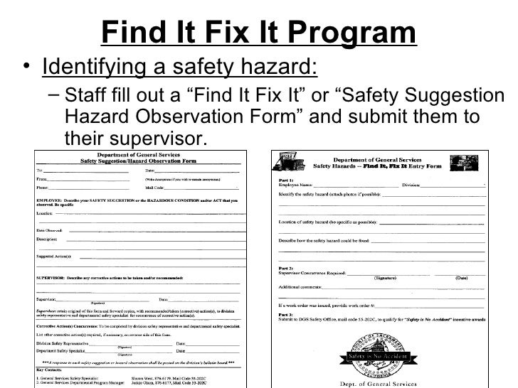 Safety Hazard Identification And Recognition Program