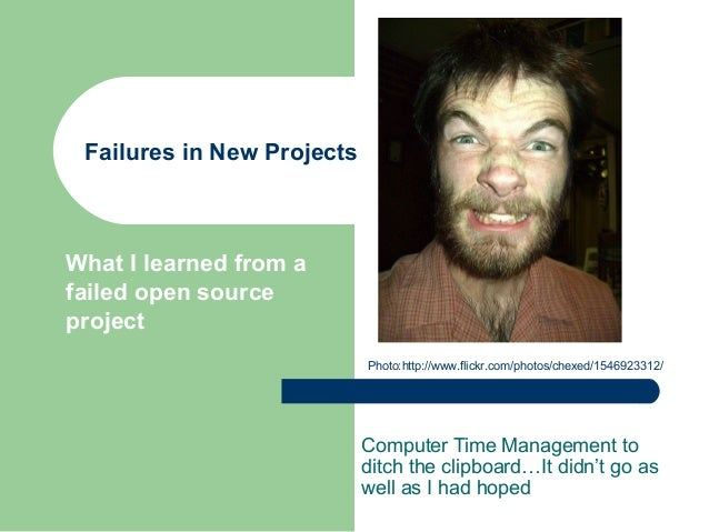 Failures in New Projects Computer Time Management to ditch the clipboard…It didn't go as well as I had hoped What I learne...