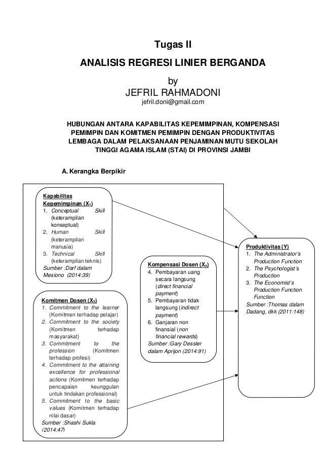 Analisis Regresi Linier Berganda