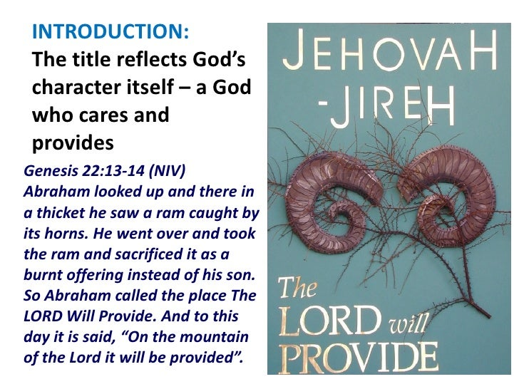 Jehovah Jireh 22nd apr henry cheah