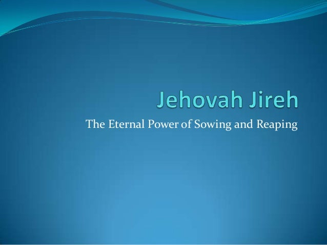 The Eternal Power of Sowing and Reaping