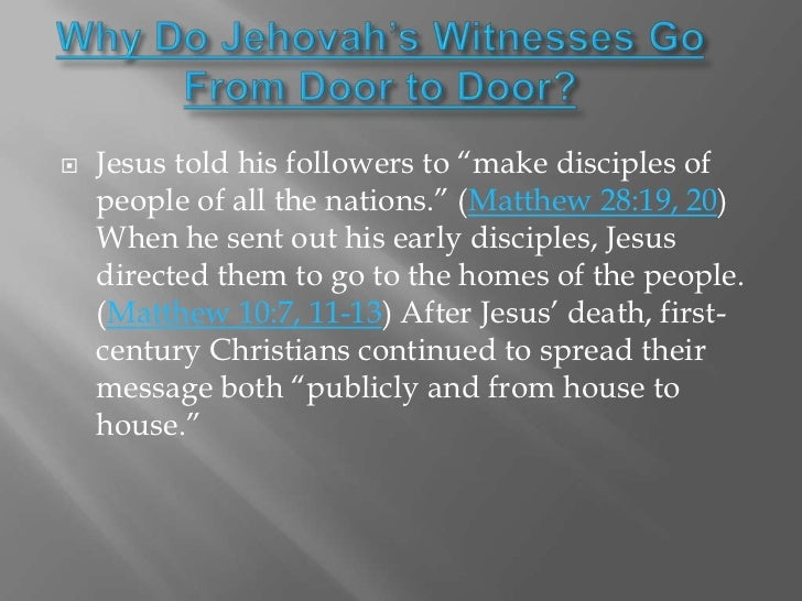 an analysis of the religion of jehovahs witness Jehovah's witnesses are a people of faith that many of us likely don't know that  much about below are 10 facts about this group which branched off from.