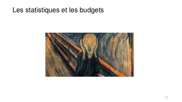 Les statistiques et les budgets 27