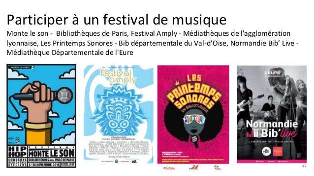 Participer à un festival de musique Monte le son - Bibliothèques de Paris, Festival Amply - Médiathèques de l'agglomératio...