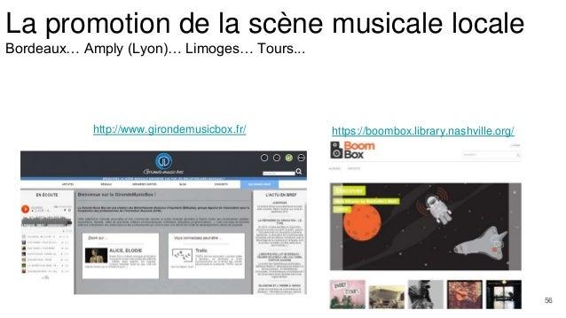 La promotion de la scène musicale locale Bordeaux… Amply (Lyon)… Limoges… Tours... https://boombox.library.nashville.org/h...