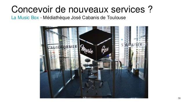 Concevoir de nouveaux services ? La Music Box - Médiathèque José Cabanis de Toulouse 59