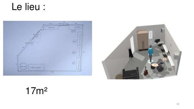 Le lieu : 17m² 63