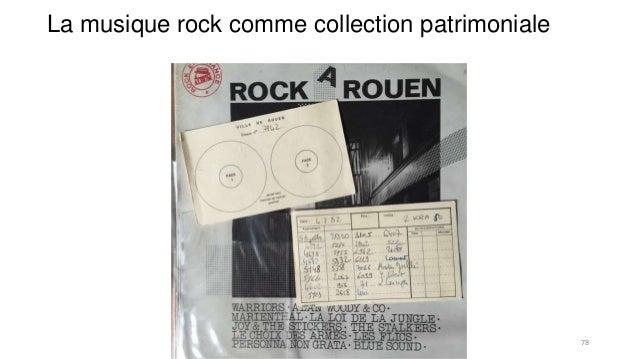La musique rock comme collection patrimoniale 78