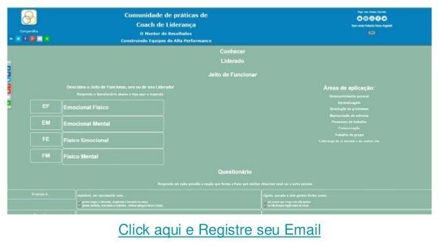 Click aqui e Registre seu Email