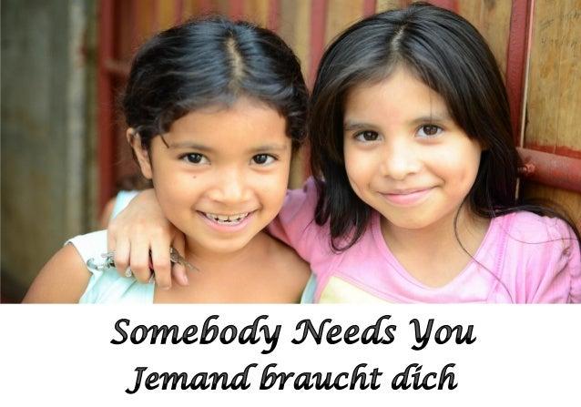 Someone Needs You —Jacqueline Schiff