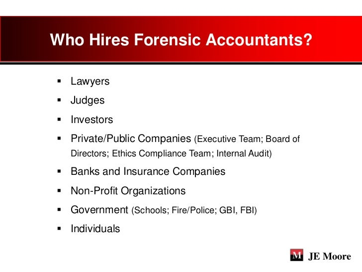 When Should You Retain A Forensic Accountant