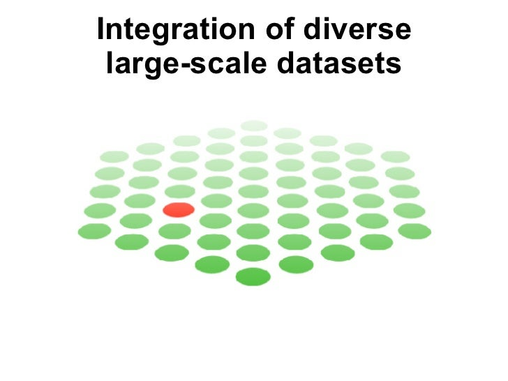 Integration of diverse large-scale datasets