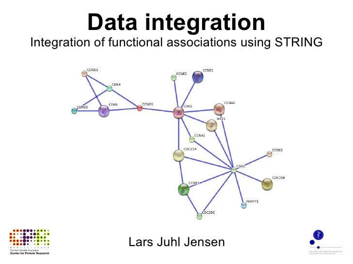 Data integration Integration of functional associations using STRING Lars Juhl Jensen