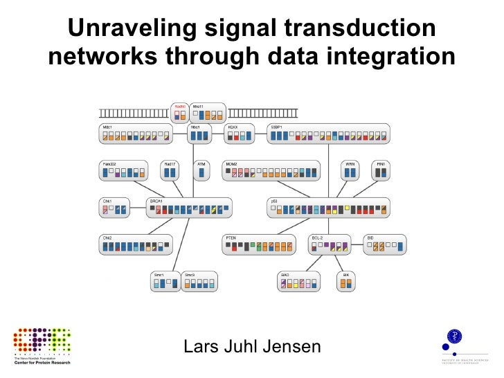 Unraveling signal transduction networks through data integration Lars Juhl Jensen