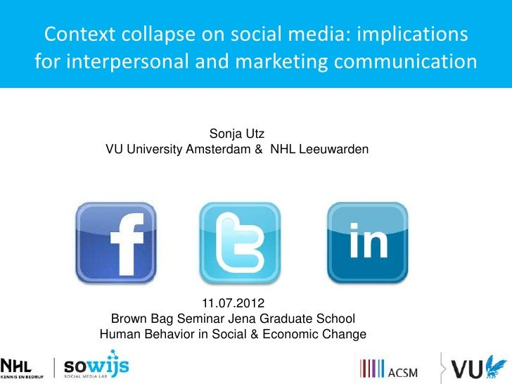 Context collapse on social media: implicationsfor interpersonal and marketing communication                        Sonja U...