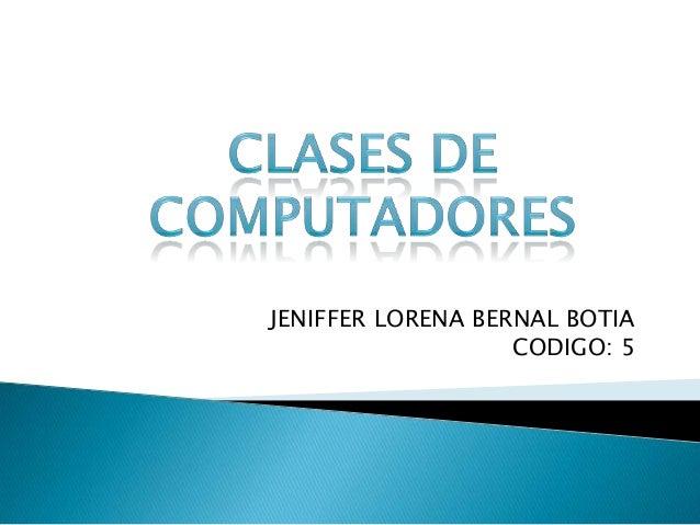 JENIFFER LORENA BERNAL BOTIA                   CODIGO: 5
