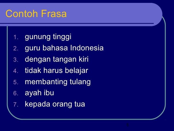 Jenis Jenis Frasa Dlm Bhs Indonesia
