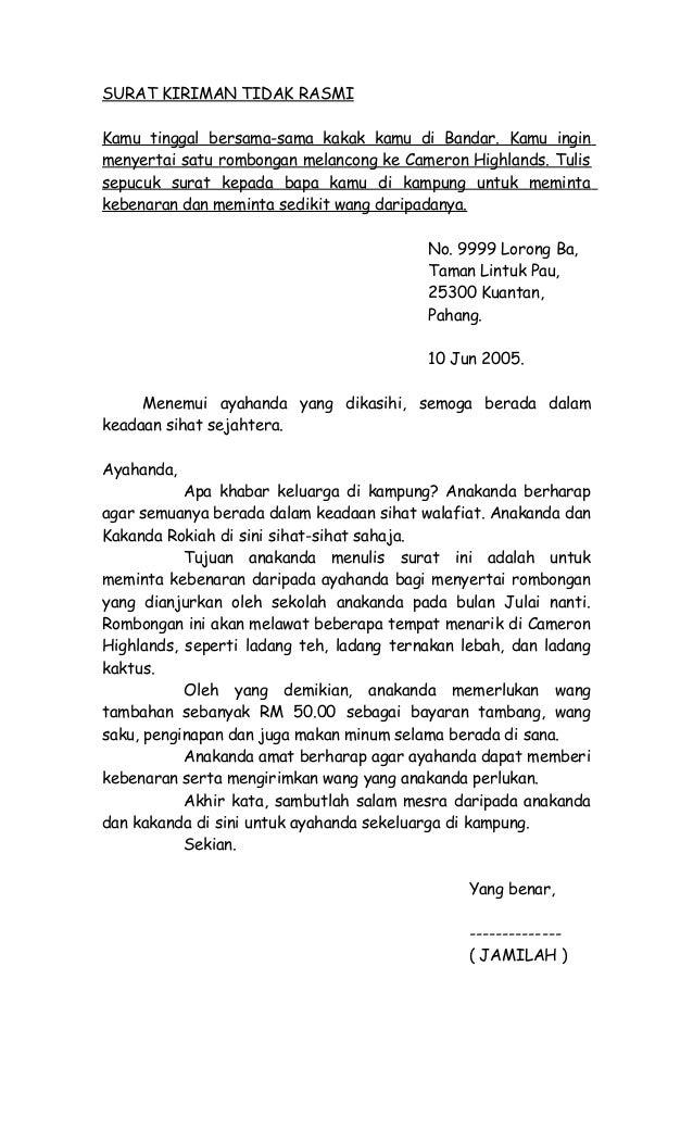 Contoh Surat Rasmi Tidak Hadir Ke Sekolah Kerana Demam