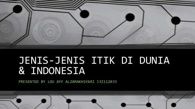 JENIS-JENIS ITIK DI DUNIA & INDONESIA PRESENTED BY LOU AYY ALZAMAKHSYARI J3I112033