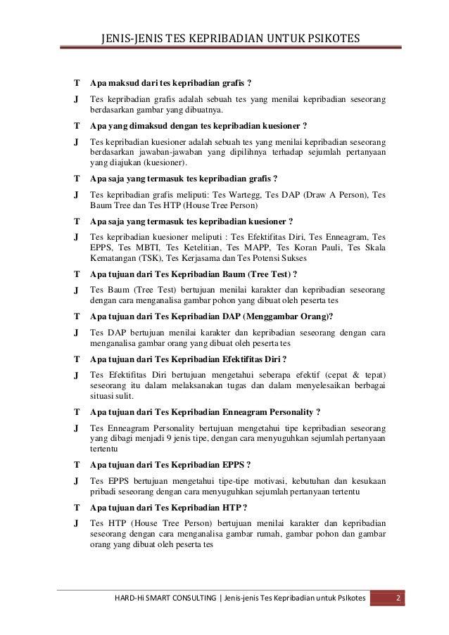 Kumpulan Soal Psikotes Dan Jawabannya Pdf
