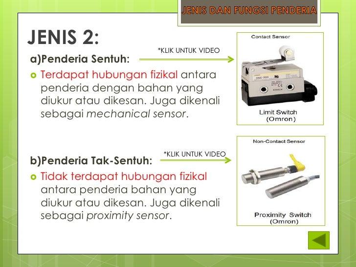 Jenis & fungsi sensor