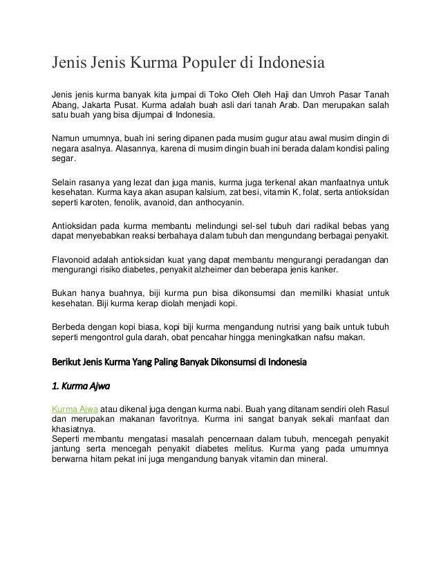 Jenis Jenis Kurma Populer di Indonesia Jenis jenis kurma banyak kita jumpai di Toko Oleh Oleh Haji dan Umroh Pasar Tanah A...
