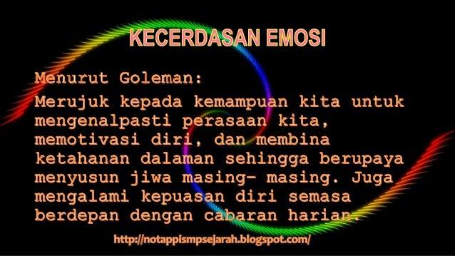 Jenis kecerdasan emosi