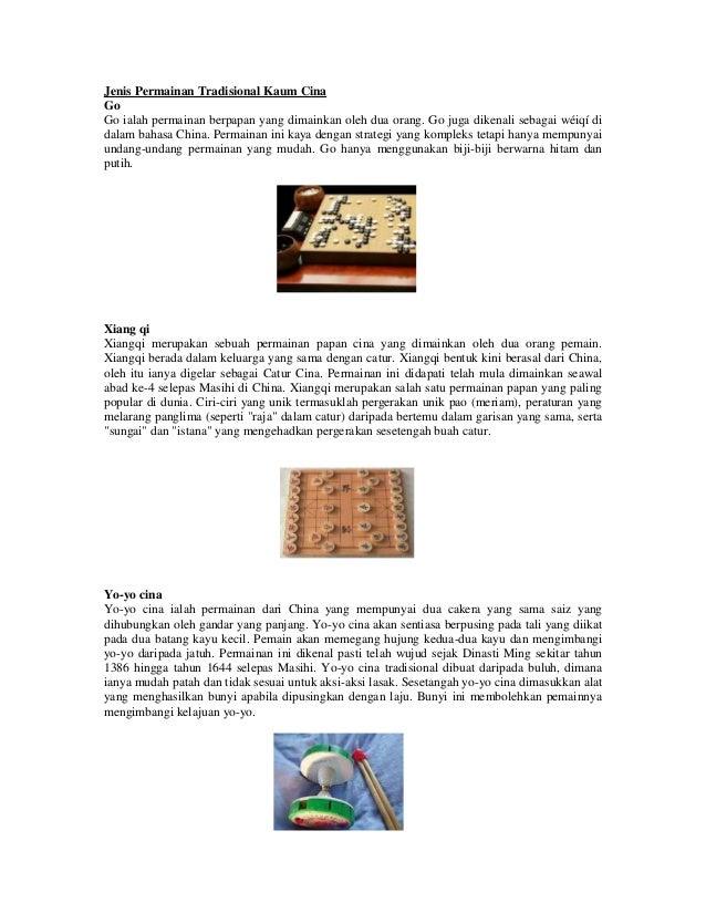 Permainan Tradisional Cina Di Malaysia