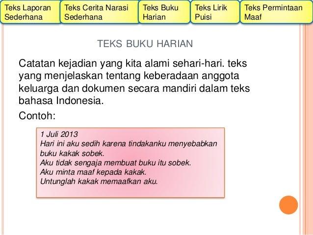 Macam Macam Teks Menurut Kurikulum 2013 Untuk Kls 2 Sd