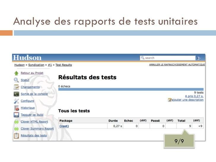 Analyse des rapports de tests unitaires                                  9/9