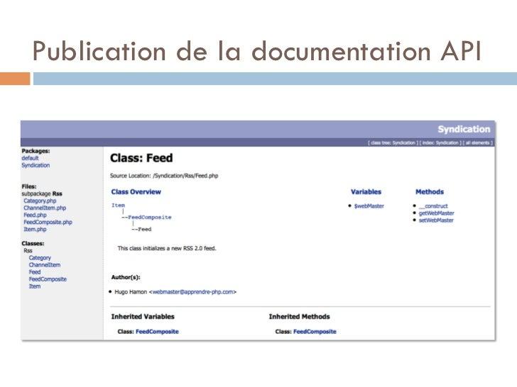 Publication de la documentation API