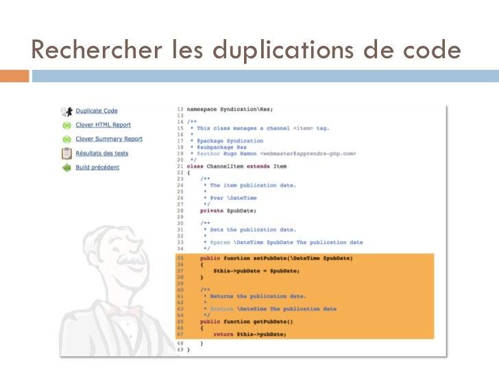 Rechercher les duplications de code