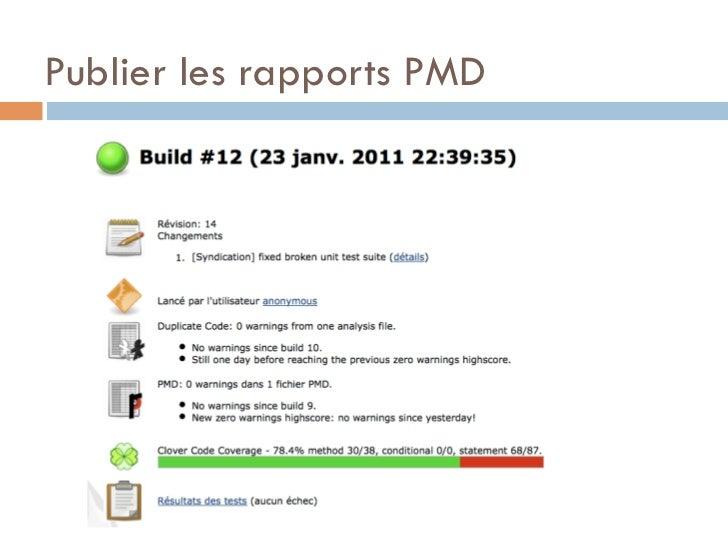 Publier les rapports PMD