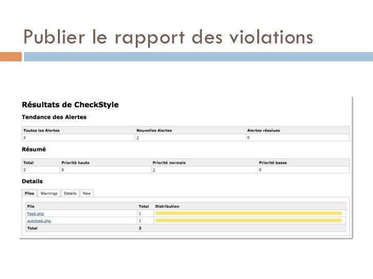 Publier le rapport des violations