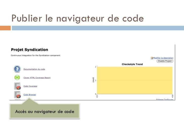 Publier le navigateur de codeAccès au navigateur de code