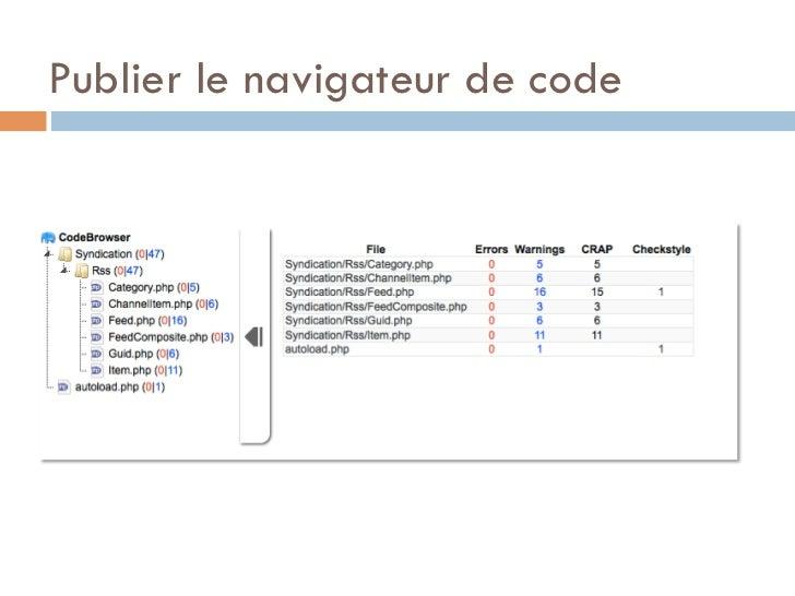 Publier le navigateur de code