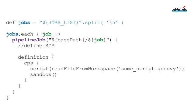 Pipeline inputs Дают возможность приостановить работу до принятия решения человеком Есть REST API Можно параметризовать ht...