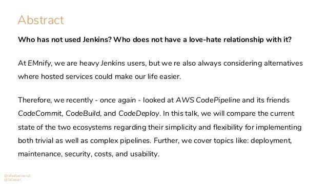 Jenkins vs. AWS CodePipeline Slide 2