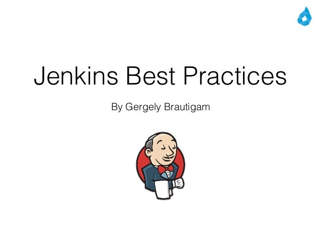 Jenkins Best Practices By Gergely Brautigam