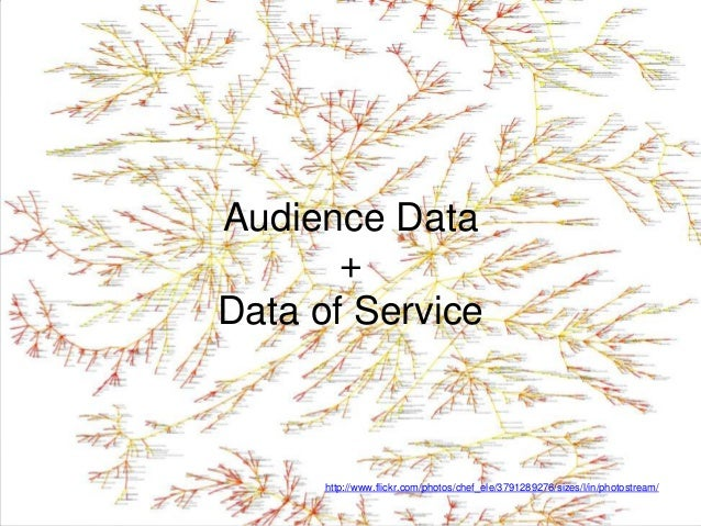 Audience Data       +Data of Service      http://www.flickr.com/photos/chef_ele/3791289276/sizes/l/in/photostream/