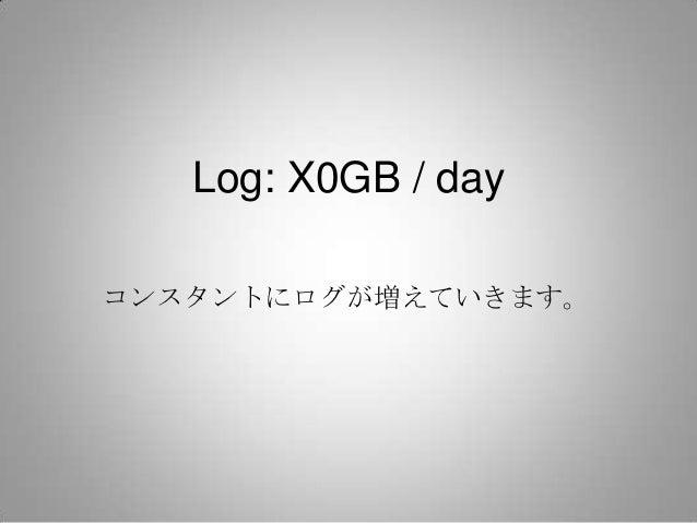 Log: X0GB / dayコンスタントにログが増えていきます。