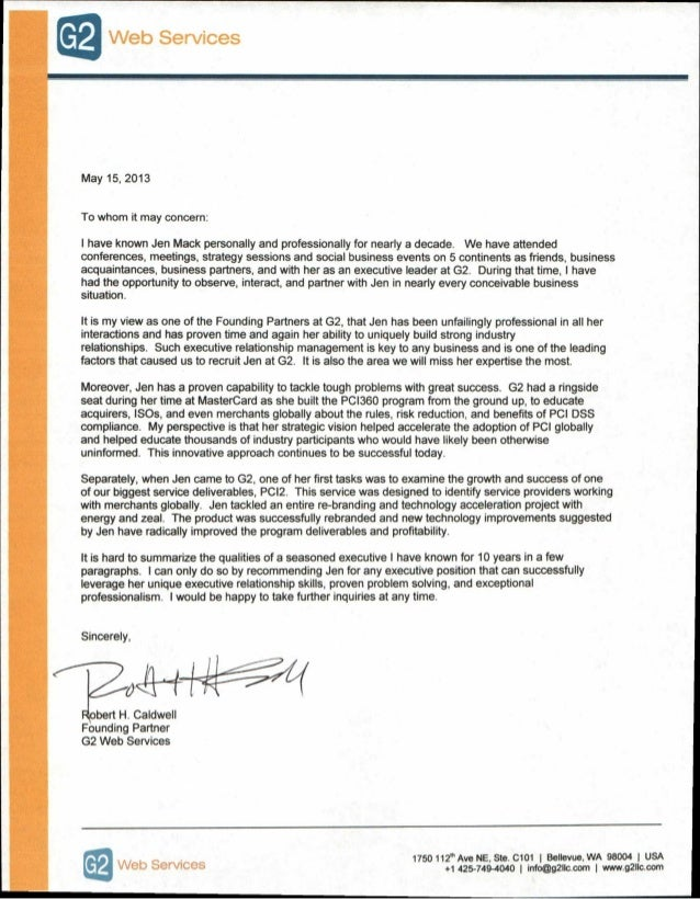 Jen Mack Professional Reference Letter 20131 – Professional Reference