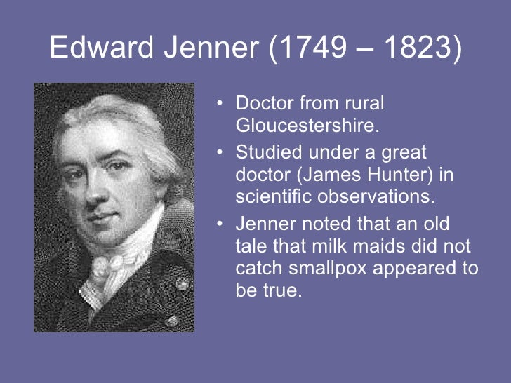 edward jenner and smallpox Edward jenner note the background view of berkeley, in gloucestershire, where jenner carried out his original vaccinations, with milkmaid and cow on show.