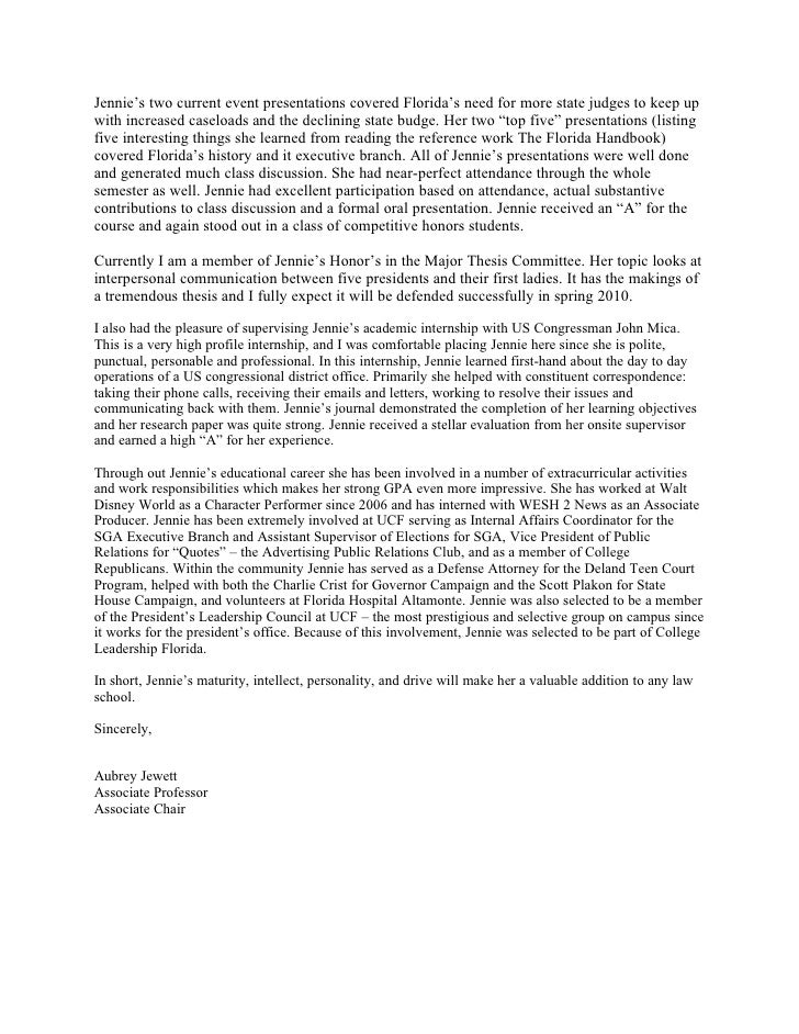 Law School Letter of Recommendation – Law School Letter of Recommendation