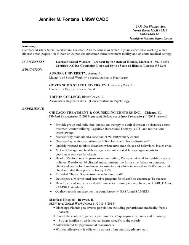 Jennifer.fontana new resume .resume.cover letter