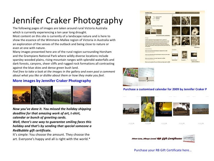 Jennifer Craker Photography The following pages of images are taken around rural Victoria Australia which is currently exp...