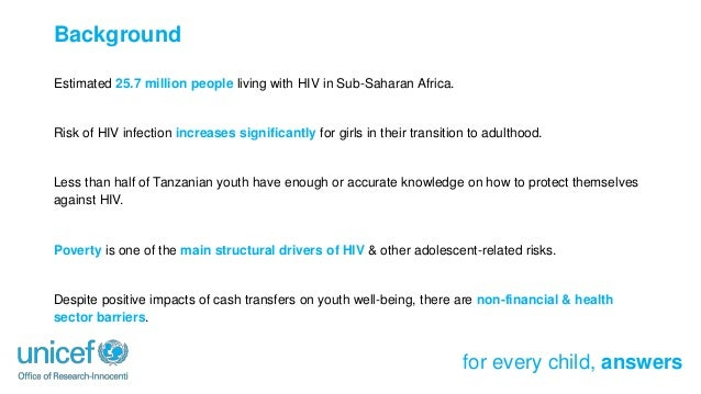 A Cash Plus Model for Safe Transitions to Adulthood: Impacts on the Sexual and Reproductive Health Knowledge of Tanzania's Youth Slide 2