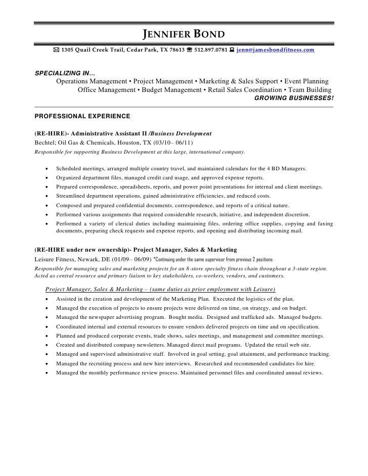 jennifer bond resume 2011
