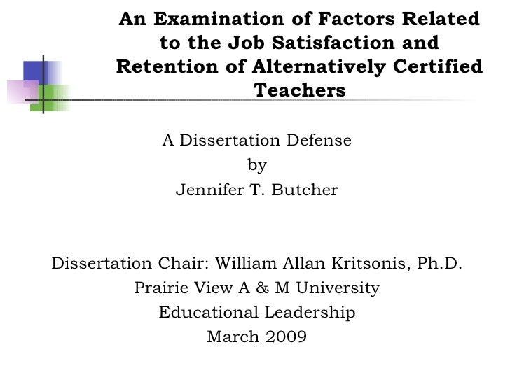 Jennifer T. Butcher, Dissertation, Dr. William Allan Kritsonis, PhD Dissertation Chair, PVAMU/Member of the Texas A&M Univ...