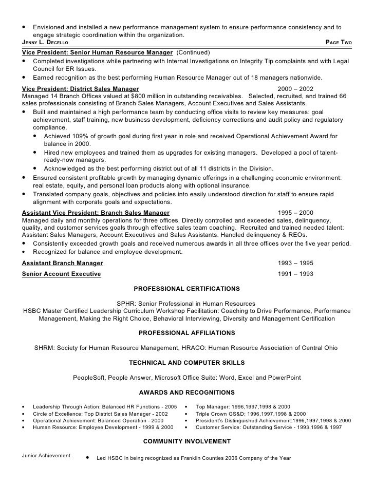 Jennifer Decello\'s Resume